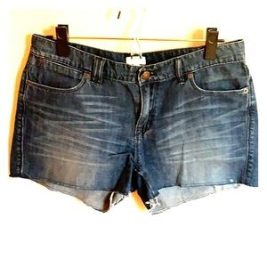 Jcrew raw hem denim shorts